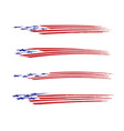 america flag vehicle graphic set vector image vector image
