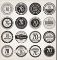 anniversary retro labels collection 70 years