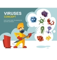 Anti germs microbes sanitation concept vector image vector image