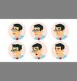 asian character business people avatar vector image vector image