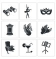 Ballet Icons Set vector image vector image