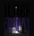 black friday sale 80 percent discount poster vector image vector image
