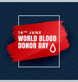 blood donation day concept background vector image vector image