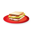 bread sandwich vector image