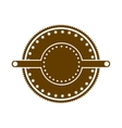 brown stamp abstract art deco emblem vector image vector image