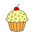cake icon on white background cake icon in modern vector image vector image