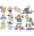 Cartoon babies and children vector image