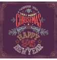 Christmas and New Year hand-lettering vector image vector image