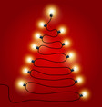 christmas lights shaped as christmas tree vector image