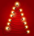 christmas lights shaped as tree vector image
