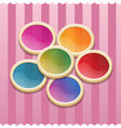 Circle cookies for valentine day vector image vector image