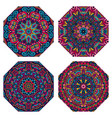 colorful mandala pattern vector image vector image