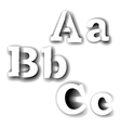 compound letters abc vector image vector image