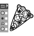 counting game for children count how many pizza vector image vector image