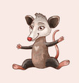 cute funny opossum or rat sauitable vector image