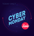 cyber monday sale today only online sale vector image vector image