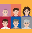 different generation age vector image