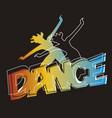 disco aerobics dance vector image vector image