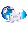 email SMS mailing the world vector image vector image