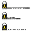 Encrypted and secure vector image vector image