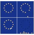 European Union ring stars on blue flag background vector image