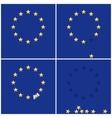 european union ring stars on blue flag background vector image