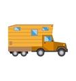 Family traveler truck summer trip concept caravan vector image vector image