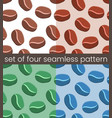 four simple coffee seamless pattern vector image vector image