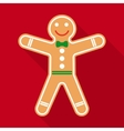 Gingerbread in Flat Style with Long Shadows vector image vector image