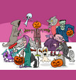 halloween holiday cartoon scary characters group vector image vector image