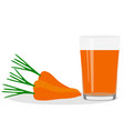 healthy lifestyle freshly squeezed juice in a vector image