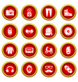 hipster symbols icons set simple style vector image vector image