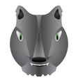 isolated werewolf mask vector image