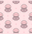 jellyfish seamless pattern background vector image vector image