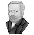 Louis Pasteur vector image