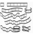 media film strips roll set Negative and vector image vector image