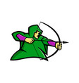 medieval archer mascot vector image