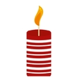 merry christmas candle isolated icon vector image