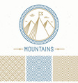 mountain design kit vector image vector image