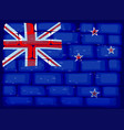 new zealand flag painted on brickwall vector image vector image