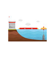 ocean power station alternative electricity vector image vector image