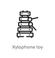 outline xylophone toy icon isolated black simple vector image vector image
