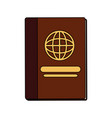 passport travel document vector image