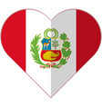 peru heart flag vector image