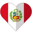 peru heart flag vector image vector image