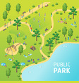 public park concept card poster vector image vector image