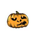 pumpkin lantern halloween symbol vector image