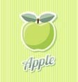 retro apple vector image vector image