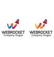 Rocket Web Design vector image vector image