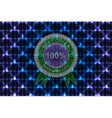 Sale label on neon background vector image vector image